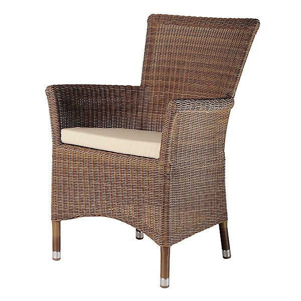 Alexander Rose San Marino Squared Top Armchair with Cushion