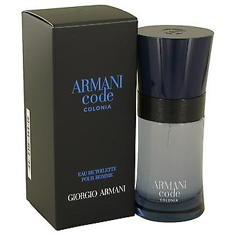 Armani Code Colonia by Giorgio Armani Eau De Toilette Spray 1.7 oz / 50 ml (Men)