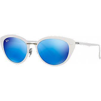 Ray - Ban RB4250 Light Ray bianco blu brillante con mirroring