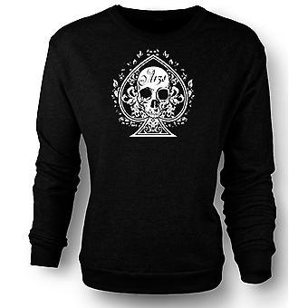 Mens Sweatshirt Skull Us Biker Ace Of Spades