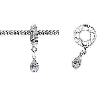 Storywheels Silver With Aquamarine Dangle CharmS012AQ