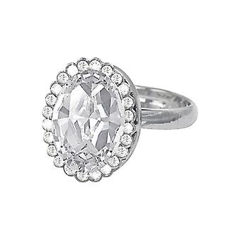 Eternal Collection grevinnan oval Clear Crystal silver Tone kostym ring