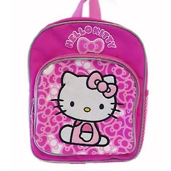 Mini Backpack - Hello Kitty - Sitting with Pink Ribbon Bow 10