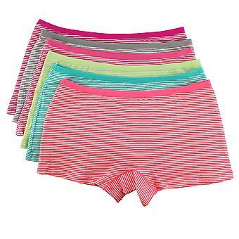 Mädchen Knickers/Hipster/Boxer Shorts 4 Stück Streifen
