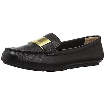 Calvin Klein Womens Lisette Leather Closed Toe Loafers