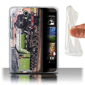 STUFF4 Gel/TPU Case/Cover for HTC Desire 820 Mini/Flying Scotsman/Steam Locomotive