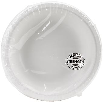 Paper Bowl 20oz 20/Pkg-White PPRB-73272