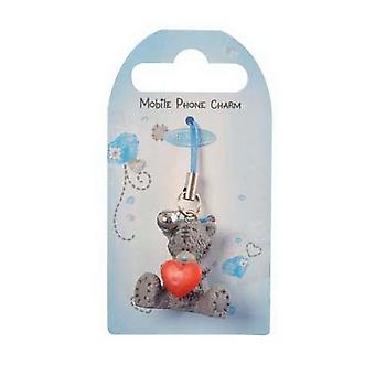 Me to You Bear Heart PVC Mobile Phone Charm