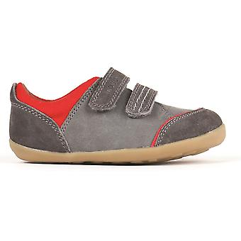 Bobux Step Up ragazzi Slide Shoes grigio fumo