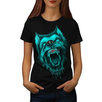 Werewolf Wolf Fear Scary Beast Women Black T-shirt | Wellcoda
