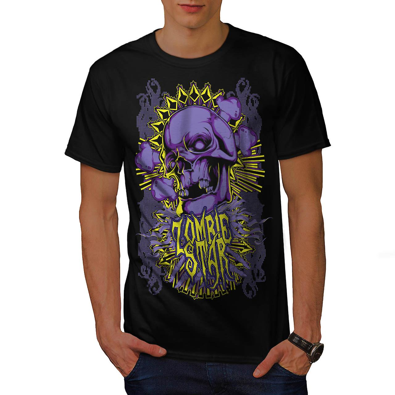 Monster Zombie Star Devils Zone Men Black T-shirt | Wellcoda