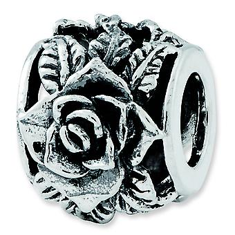 Charm in argento Sterling riflessioni Rose Bali Bead