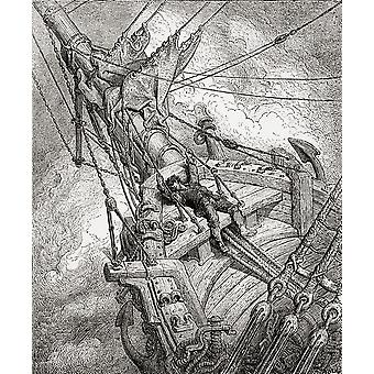 After The Original Drawing By Gustave Dore For The Rime Of The Ancient Mariner From Life And Reminiscences Of Gustave Dore Published 1885 PosterPrint