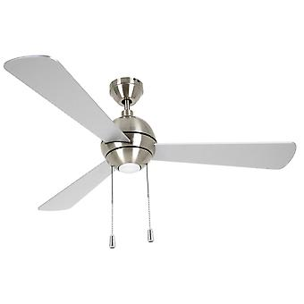 "Ceiling Fan Bordono Chrome brushed 122 cm / 48"" with lighting by Beacon"