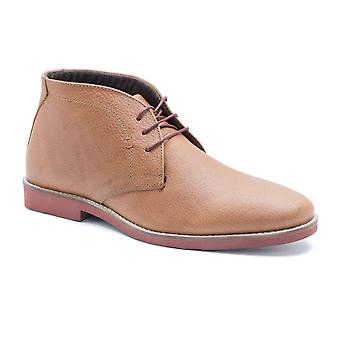 Red Tape Dorney Tan Honey Milled Leather Mens Casual Desert Boots