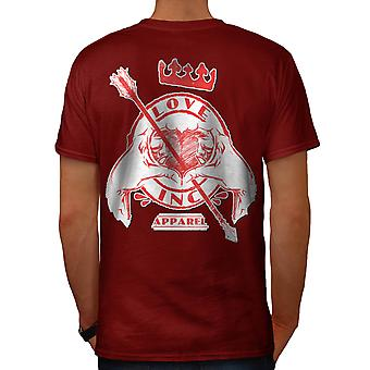 Love Ink Company USA Heart Lust Men Red T-shirt Back | Wellcoda