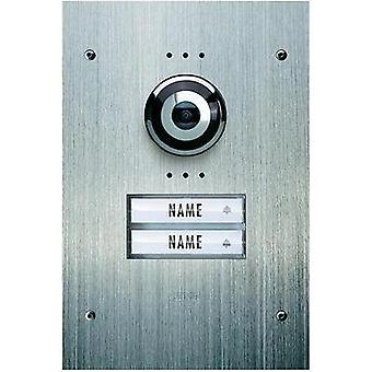 Video door intercom Corded Outdoor panel m-e modern-electronics VDV 920 Semi-detached Stainless steel