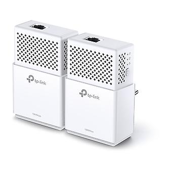 TP-LINK AV1000 Powerline Starter Kit con blanco dos adaptadores, Gigabit,