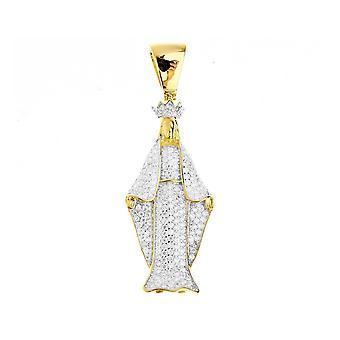 Premium Bling - 925 Sterling Silber Heilige Maria Anhänger