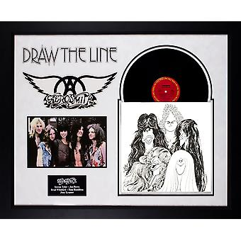 Aerosmith - Draw The Line - Vintage Vinyl Album Custom Framed Collage