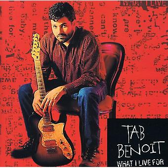 Tab Benoit - What I Live for [CD] USA import