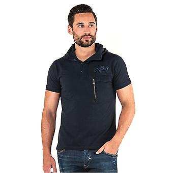 883 POLICE Grafton Men's Hooded Polo Shirt | Navy