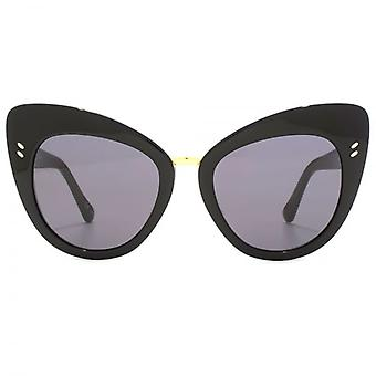Stella McCartney Essentials Metal Bridge Cateye Sunglasses In Black