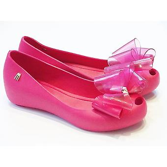 Mini Melissa CLEAR PINK LARGE BOW