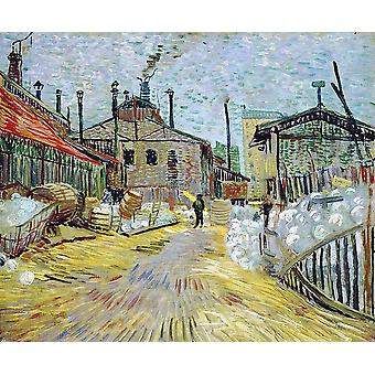 Vincent Van Gogh - Factory at Asnieres, 1887 Poster Print Giclee