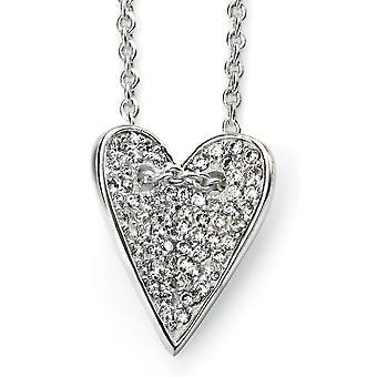 Corazón de plata 925 collar tendencia circonio