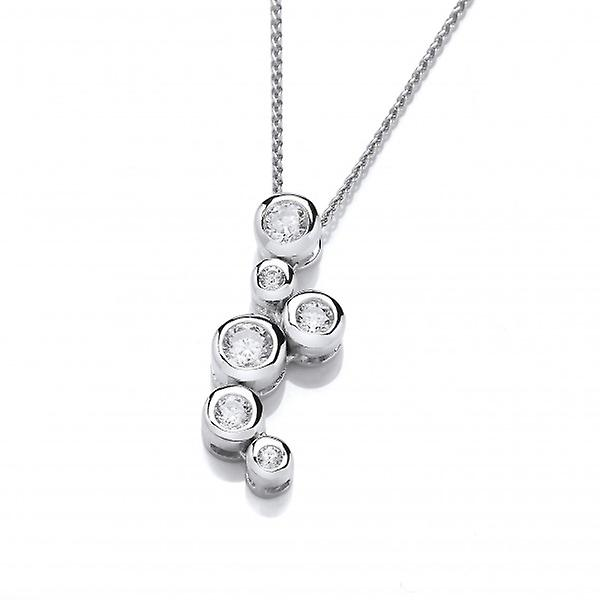 Cavendish French Sterling Silver and Crystal Bubbles Pendant without Chain