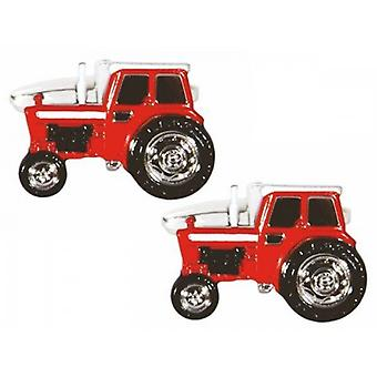Zennor Tractor Cufflinks - Red