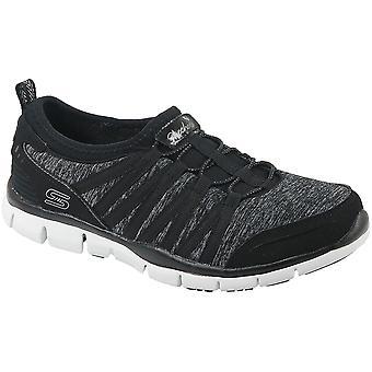 Skechers Gratis 22602-BKW Damen Sneaker