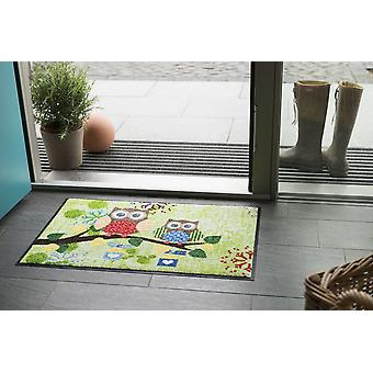 Summer OWL green 50 x 75 cm by Salon lion washable floor mat animal motif OWL motif