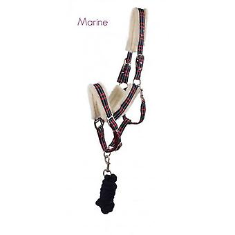 QHP Bridle with Ramal Marino Fur Cob