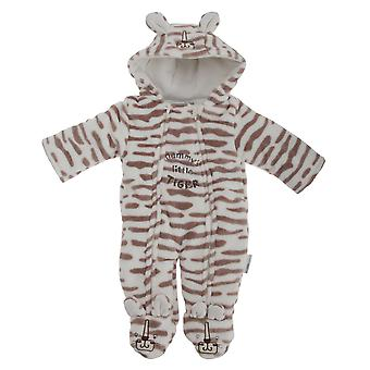 Baby-Unisex Mummys Little Tiger all-in-One Kapuzen Winter Schneeanzug