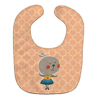 キャロラインズ宝物 BB6727BIB バレリーナうさぎ赤ちゃんよだれかけ