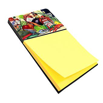 Spices and Crawfish Refiillable Sticky Note Holder or Postit Note Dispenser