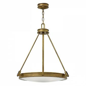 HK/COLLIER/P Collier 4 Light Ceiling Pendant Light In Heritage Brass