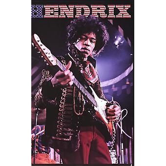 Jimi Hendrix - Stars & Stripes Poster Poster Print