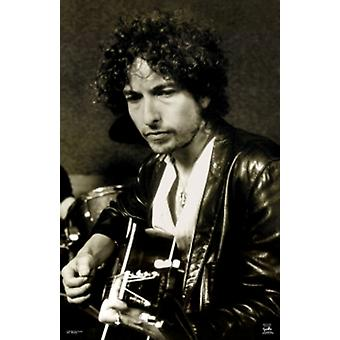 Bob Dylan Guitar Sepia Tone Poster Poster Print