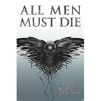 Gioco di troni tutti gli uomini devono morire stampa del manifesto (24 x 36)