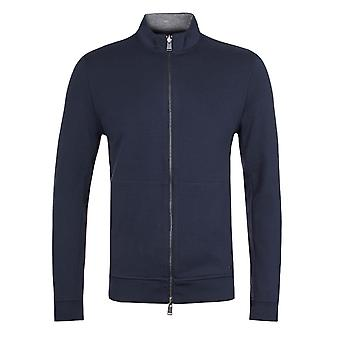 BOSS Scavo 05 Navy/grå Reversible Zip gennem Sweatshirt