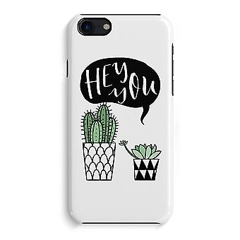 iPhone 7 Full Print Case - Hey you cactus