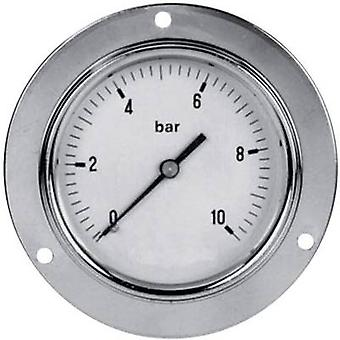 Manometer ICH 304.63.10 Back side 0 up to 10 bar External thread 1/4