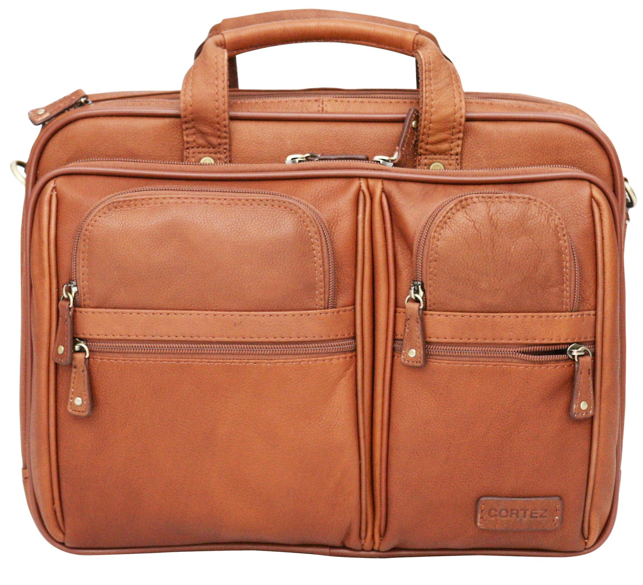 Cortez Colombian Leather 15.6 Inch Laptop Case Briefcase Soft Business Bag