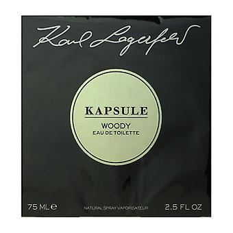 Lagerfeld Kapsule Woody Eau De Toilette Spray 2.5 Oz/75 ml ny i Box
