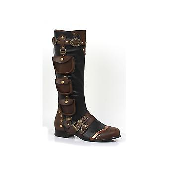Ellie Shoes E-121-Amos 1 Heel Knee High bottes tailles hommes