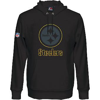 Majestic HEATHLY Hoody - NFL Pittsburgh Steelers nero