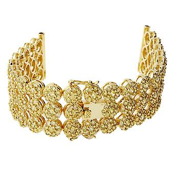 Iced Out CLUSTER Uhren Armband - 3 ROW GOLD